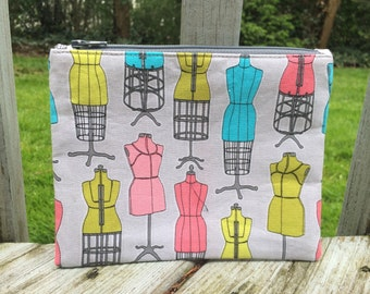 Only 1 Left! Fashion Dressform/Mannequin Print Zipper Pouch - FREE U.S. SHIPPING