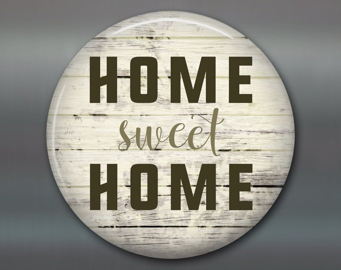 "3.5"" home sweet home decor, rustic wood sign magnet, kitchen decor, stocking stuffer MA-SIGN-6"