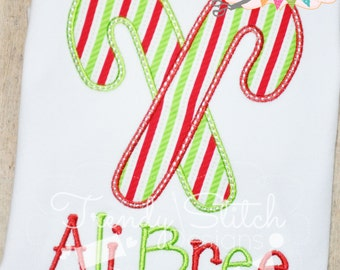 Candy Cane Applique Design Machine Embroidery Design INSTANT DOWNLOAD