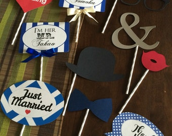 10 piece wedding photo booth props