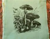 Mushrooms handprinted patch