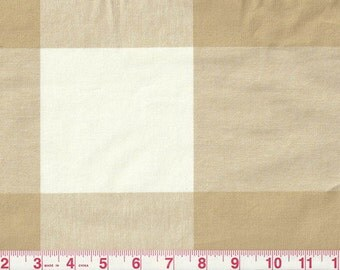 P Kaufmann Large Biscuit/Beige Buffalo Check Curtains