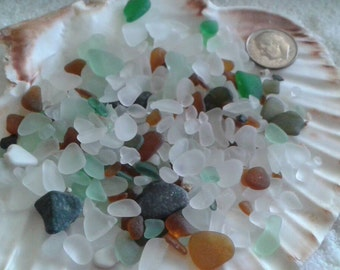 Tiny seaglass for lockets or tiny glass jars 2 ounces of seaglass #16seaglass