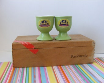 2 Vintage Egg Cups, Egg Holders, Laura Secord, Laura Secord Egg Cups, Rabbit Egg Cups, Bunny Egg Cups, Easter