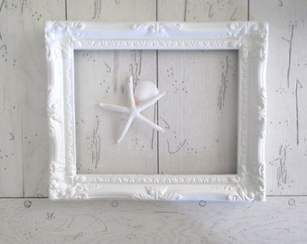 White Frame Farmhouse Style Open Frame Fixer Upper Gallery Wall Decor Shabby Cottage