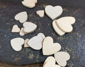 Unfinished wooden hearts for essential oil diffusers or crafting jewelry making in the size of your choice