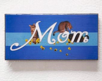 Gifts for Mom, Mother's Day,  Refrigerator Magnet, Cat Mom, Fridge Magnets, Cat Art, Cat Lady, Cat Lover Gift, Deborah Julian