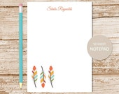 personalized feather notepad . tribal feathers notepad . feather note pad . personalized stationery stationary