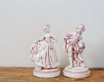 Vintage Holland Mold Man and Woman Figurines