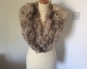 Vintage real fox fur wrap 1960s/ ITEM-HOLD for EMILY :)
