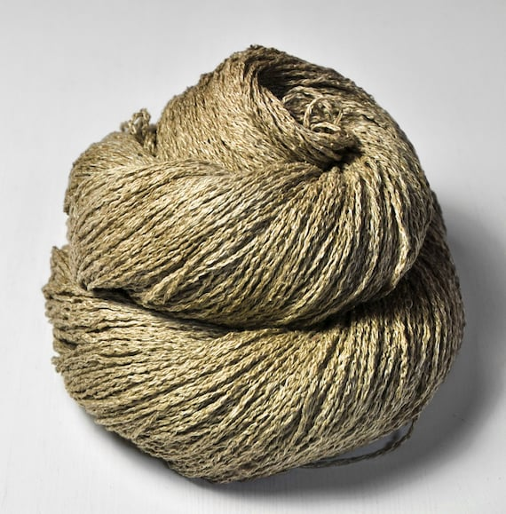 Fango Silk/Linen Fingering Yarn by DyeForYarn on Etsy