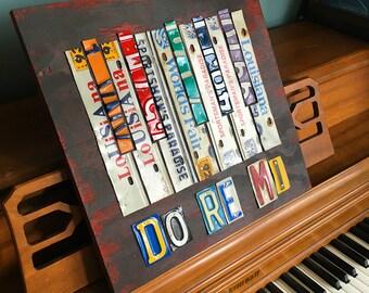 Do Re Mi Piano License Plate Music Art