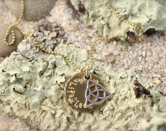 Celtic Irish Knot Life Luck Love Necklace