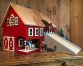 Large Kids Hardwood Toy Barn