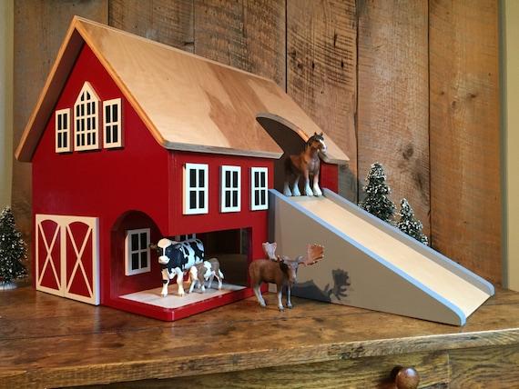 Large Handmade Wooden Toy Barn