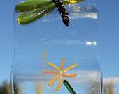 Golden Dragonfly Windchime or Suncatcher