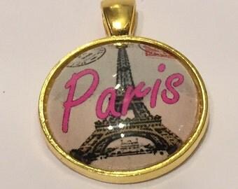 Paris Eiffel Tower Necklace - 25mm Glass Pendant