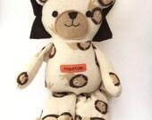Memory Bear made from baby clothes, Pajama Plush,Baby Bodysuit Bear, Baby Sleeper Plush, Keepsake Plush Sleeper bear, Baby Sleeper Bear