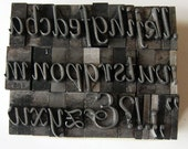 Vintage Metal Letterpress Type Bernhard Tango 36 Piece Lowercase