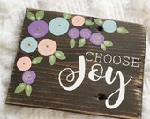 Choose Joy - mini pallet sign