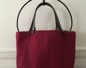 Claret Red Felted Tote Bag