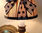 Chandelier Lamp Shade in Natural and Black