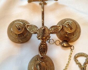 Vintage service brass bells