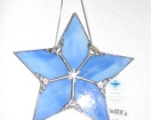 Blue Streaky Glass 5 point star