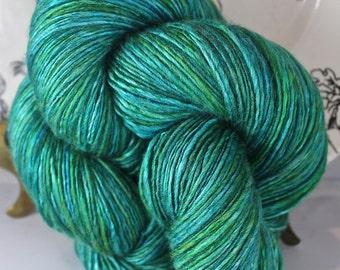 Handspun Yarn Gently Thick and Thin Single Fine Merino and Bombyx Silk 50/50 'Ka'anapali'