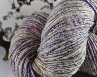 Handspun Yarn Thick and Thin Bulky Single Merino Silk 'Adaptation'