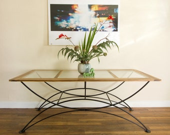 Zebra Wood Table   Glass U0026 Wood Top Table   Dining Table   Gallery Display  Table
