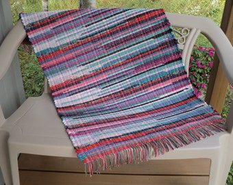 Hand Woven Rag Rug: Hit and Miss Multi Color