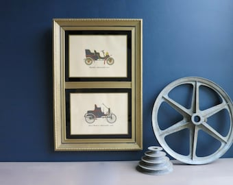 Antique car wall art | Framed vintage car print