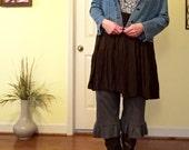 Plus size babydoll dress tunic slip layer lagenlook mori girl blue brown paisley silky sundress XL Xxl romantic rustic beach boho