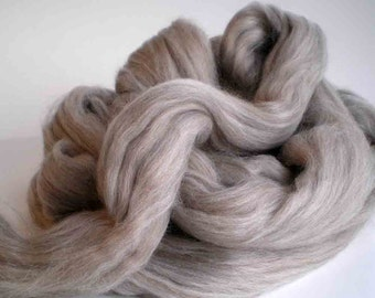 "New for 2016  Ashland Bay Solid Colored Merino for Spinning or Felting ""Taupe""  4 oz."