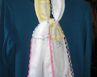 Vintage Ladies Handkerchief Scarf