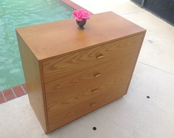 HARVEY PROBBER CHEST / Chest of Drawers with Brass Pulls / Mid Century modern Style / Solid Wood Chest at Retro Daisy Girl