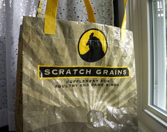LINED Poultry Feedsack Tote