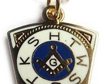 Royal Arch Order Freemason Lodge Master Masonry Pendant Necklace Charm with Stock Chain