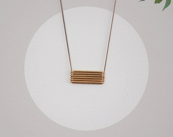 LAST ONE \\ Stacked Bar Necklace