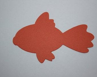 18 x Goldfish Die Cuts