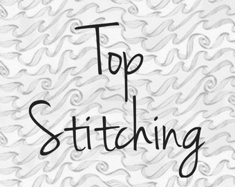 Top stitching- add to patchwork blanket
