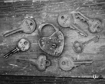 Key Art Print, Personalized Family Prints, Family Gifts, Industrial Decor, Meaningful Gifts, Sentimental Gifts, Keepsake Gifts, Wall Art