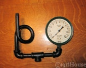 Vintage Marshalltown Crane 0-30 psi Pressure Gauge With Attched Looped Pipe for Steampunk Projects