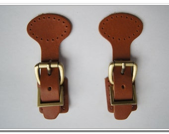 1 Genuine Leather Buckles With Magnetic Snap,Leather Closures For Handbag Clasp,Handbag Leather Buckle,2 Colors Available