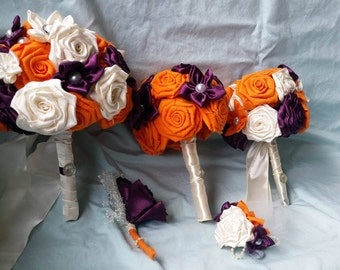 Custom Fabric Rose Bouquets