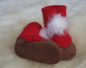 Santa baby - booties 6-12 month