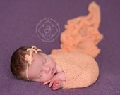 Peach Stretch Knit Wrap Newborn Photography Prop
