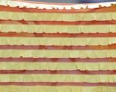 "Destash: 1/2"" yellow and orange stripe fabric"