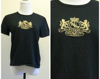 Ralph Lauren Shirt Black and Gold Small Medium 90s Throwback Hip Hop Wavvy
